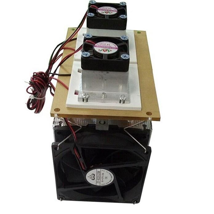 Universal 12V DIY 12A 144W Electronic Semiconductor Refrigerator Radiator Double Head Kit Black price in nigeria