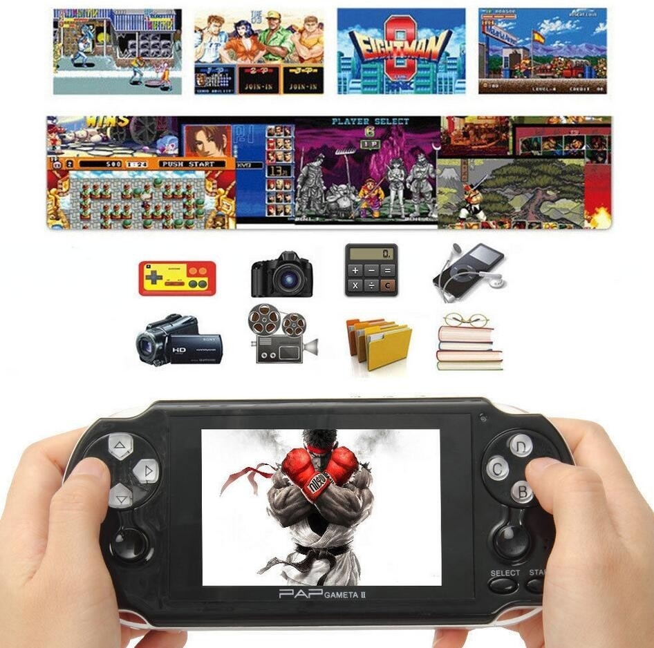 42b87bbdd9317670004083c110caaec4 Xbotmax PAP II Plus 4.3 Handheld Game Player 64Bit PMP PSP Built In MP4 MP5 Video Game Consoles Black