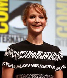 Jennifer Lawrence slips, but not on stage. And Celebrities honor Heroes.