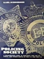 "Blue and white bookcover of ""Policing Society"" wh deals with bullying ."