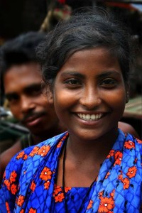 Bangladeshi woman w beautiful smile.