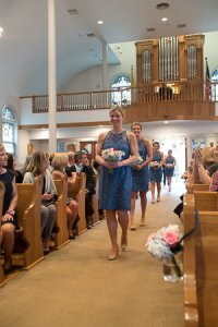 Daughter Lindsay & her mom (far left) at John's Oct '15 wedding. No cleft lip or palate.
