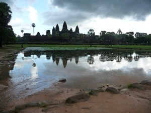 Wonder of World: Angkor Wat in Cambodia.