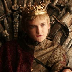 Bust shot of Joffrey Baratheon, villain from TV's Game of Thrones.