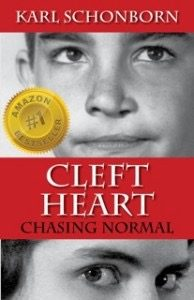 Brother & Mother of Guest Blogger on cover of Cleft Heart..
