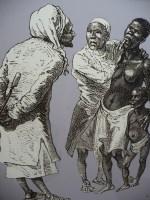 Men examining slave's mouth - Historic documentation of white privilege.