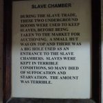 Sign at underground slave chambers.