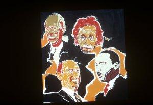 Ptg of heads of King, Stevenson, Thomas, Einstein