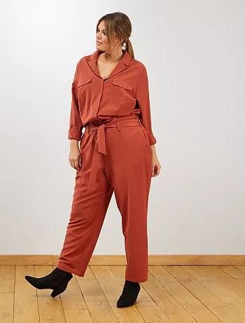 دفع البترول قسم pyjama combinaison grande taille