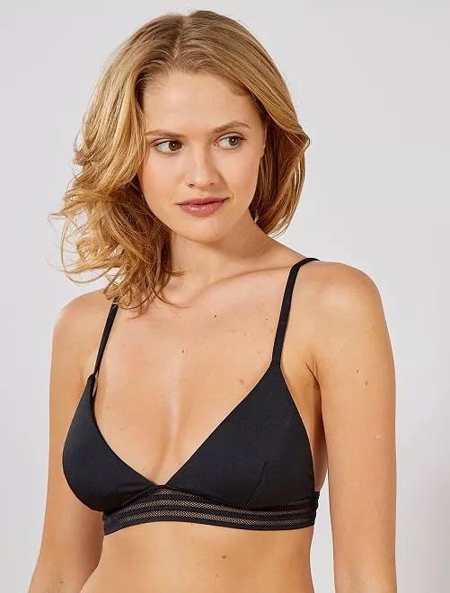 Haut de maillot de bain triangle noir Femme