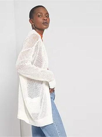 Cardigan a cascata in tricot - Kiabi