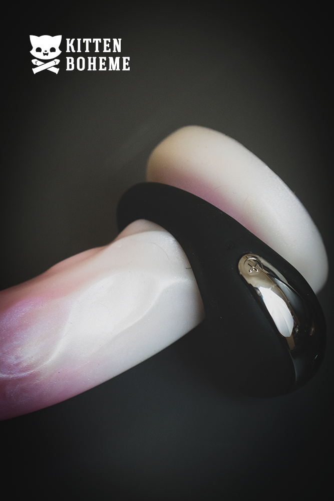 Hot Octopuss Atom Vibrating Cock Ring on an Uberrime Splendid Dildo