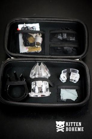 Mystim Public Enemy No 1 Electrosex Cock Cage Inside Storage Case