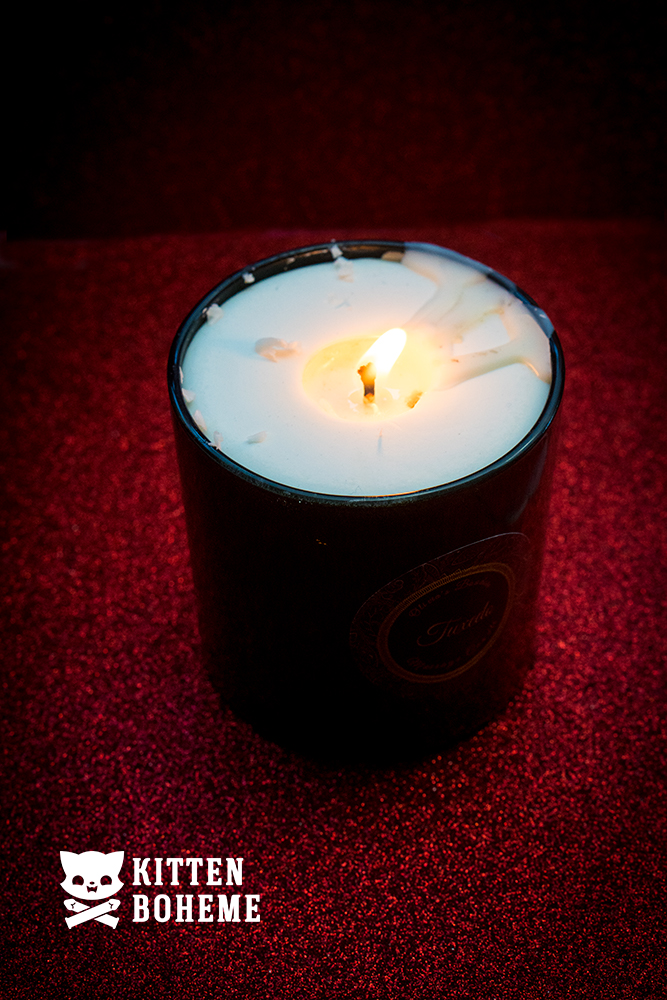 Olivia's Boudoir Tuxedo Luxury Massage Candle with Flame