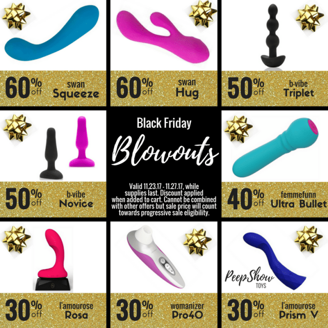 Peepshow Toys Black Friday Sex Toy Blowout Sale