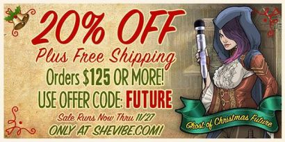 SheVibe Black Friday Sale Banner 20% off plus free shipping