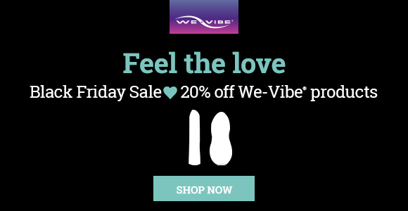 We-Vibe Black Friday Sex Toy Sale Banner