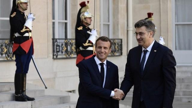 Macron i Plenković (Foto: Klix.ba)