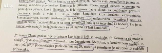 Obrazloženje Suda BiH