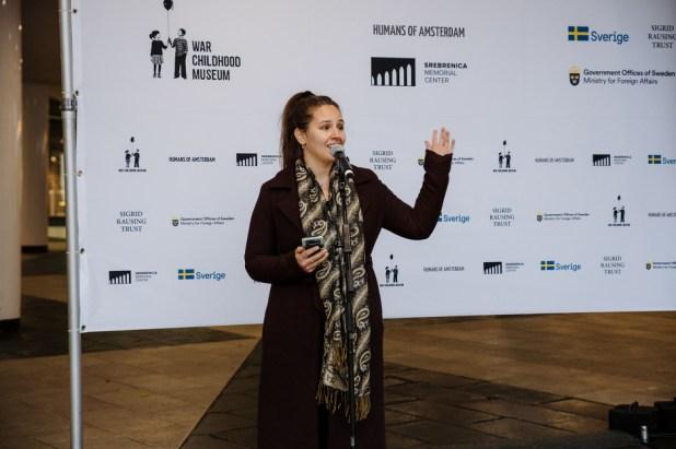 Debra Barraud govorila u susretu s preživjelima (Foto: Muzej ratnog djetinjstva)