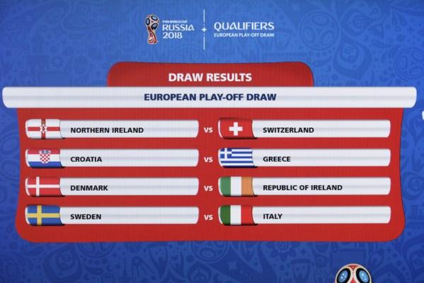 Baraž za Svjetsko prvenstvo: Hrvatska protiv Grčke, Italija ide na Švedsku