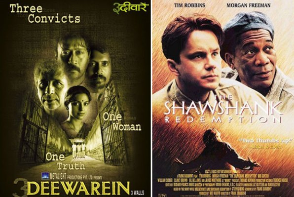 3 Deewarein (2003) and The Shawshank Redemption (1994) Movie Poster