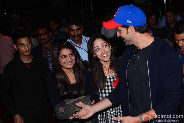 Hrithik Roshan And Yami Gautam spotted at Airport