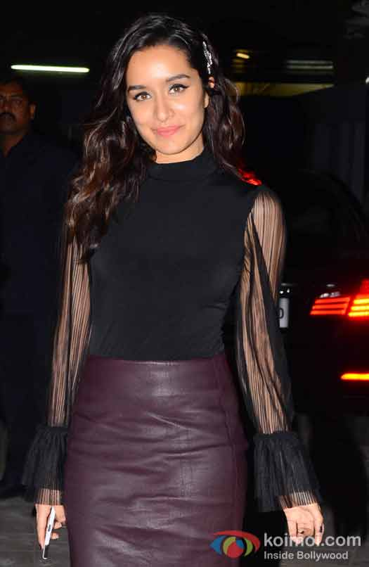 Shraddha Kapoor during the screening of OK Jaanu