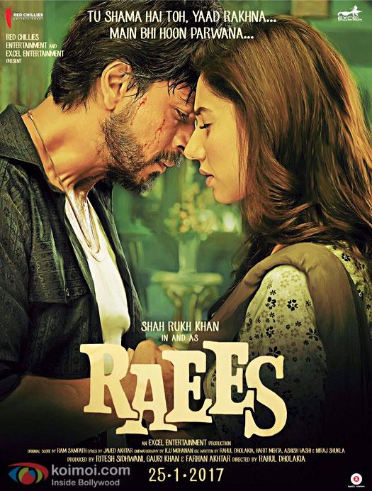 Raees Poster: Shah Rukh Khan & Mahira Khan's Intense Love Looks Impressive!