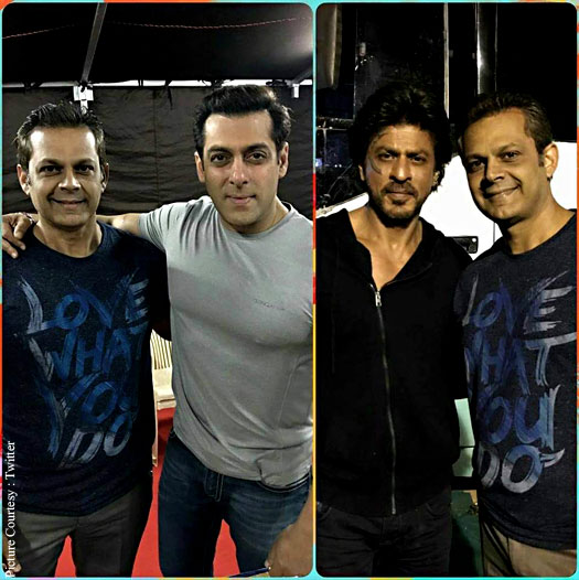 Salman Khan and Shah Rukh Khan snapped at Tubelight's shoot!