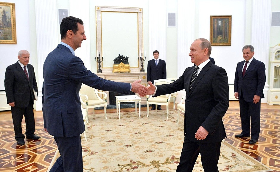 With President of Syria Bashar al-Assad.