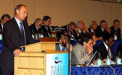 President Putin attheWorld Climate Change Conference.