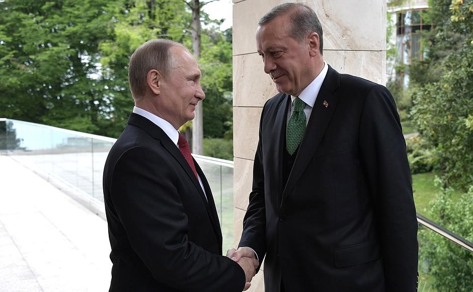 With President ofTurkey Recep Tayyip Erdogan.