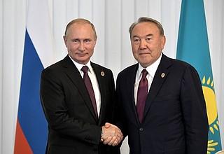 With President ofKazakhstan Nursultan Nazarbayev.