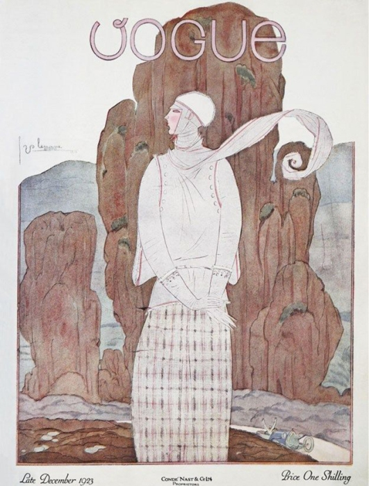 Обложка журнала Vogue, декабрь, 1923. Иллюстратор Жорж Лепап (Georges Lepape)