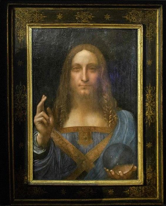 Спаситель мира. Леонардо да Винчи, ок. 1500 г. | Фото: dailymail.co.uk.