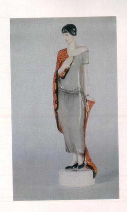 Маленькая статуэтка русской поэтессы, 1924 год.