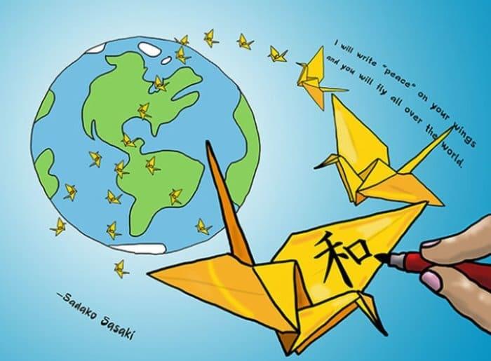 Бумажный журавль стал символом мира | Фото: thegreatpeacemakers.com