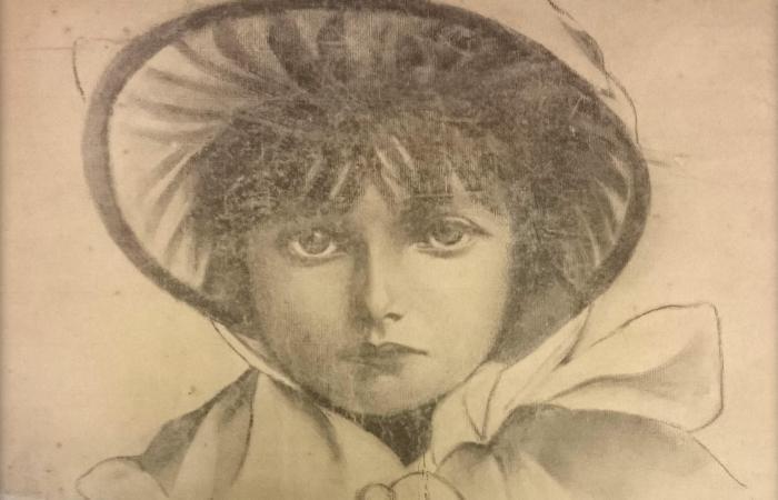 Рисунок Варвары Пушкиной. Портрет В. Волковой   Фото: obzor.lt