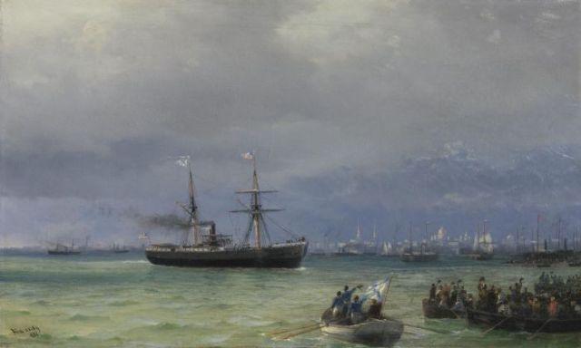 «Корабль помощи», Иван Айвазовский, 1892. / Фото: www.regnum.ru