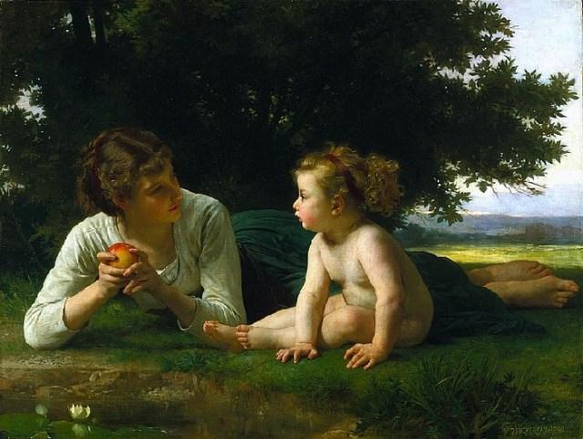 «Соблазн». Автор: William Bouguereau.