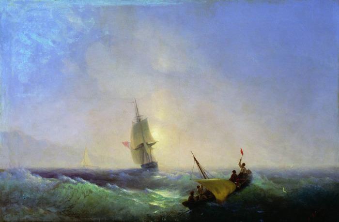 Спасающиеся от кораблекрушения. 1844 год.