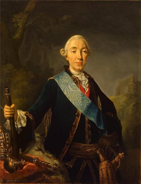 Портрет императора Петра III. Автор: Л. Пфанцельт.