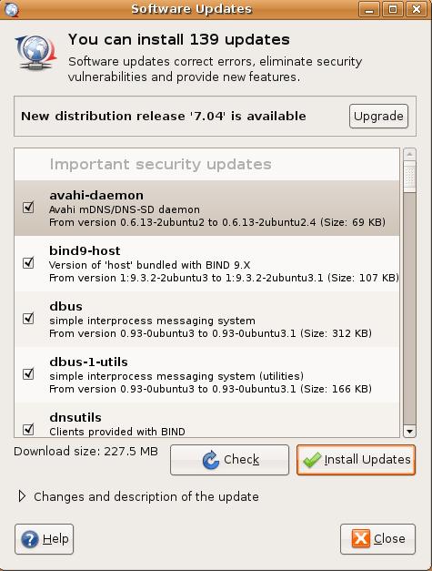 Upgrading Ubuntu 8.04 to 8.10