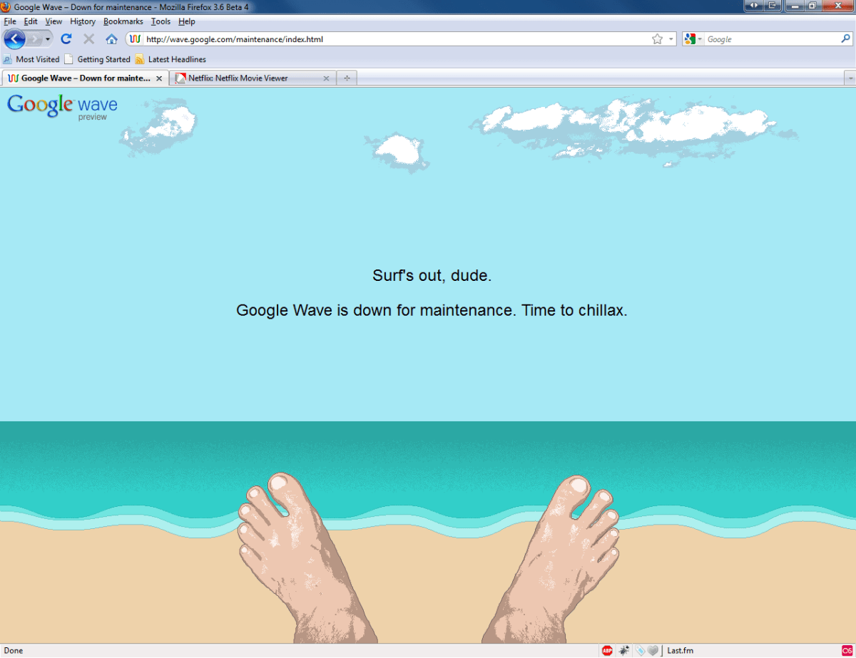 Google Wave + Maintenance = ..Day at the Beach?