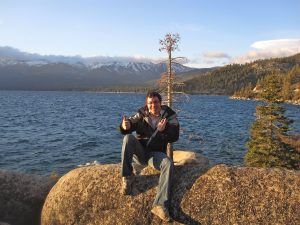 Me at North Lake Tahoe in Nevada.