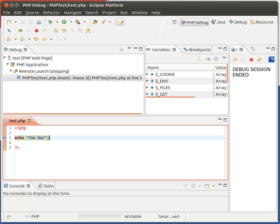 Debugging PHP in Ubuntu using Eclipse