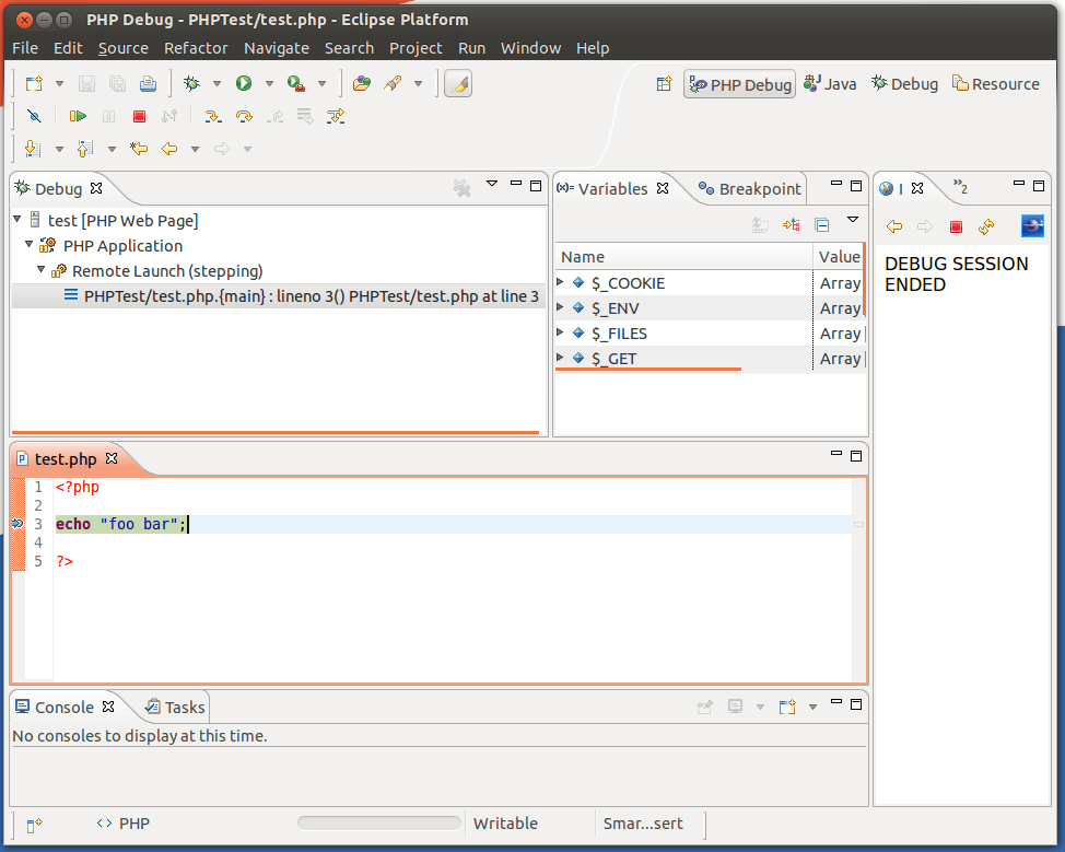 Debugging PHP in Ubuntu using Eclipse