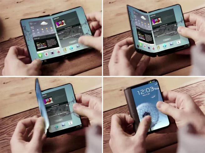 Image result for ड्यूल डिस्प्ले के साथ Samsung ने उठाया फोल्डेबल स्मार्टफोन से पर्दा