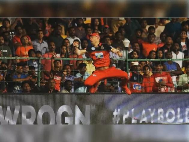 RCB vs SRH: AB catches amazing catch, Virat said - Spiderman Live